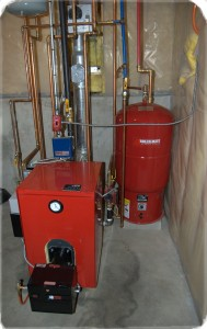 High efficiency oil heating system